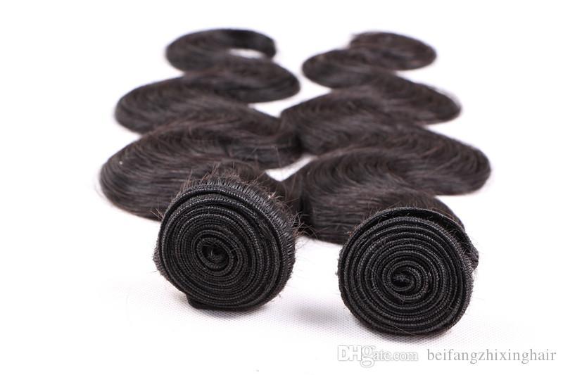 8a grade Körperwelle remy Haarwebart 1b # natürliche farbe 100 gr / teile 4 STÜCK / peruanisches Reines Menschenhaar Verlängerung Doppel schuss dhl freies Verschiffen