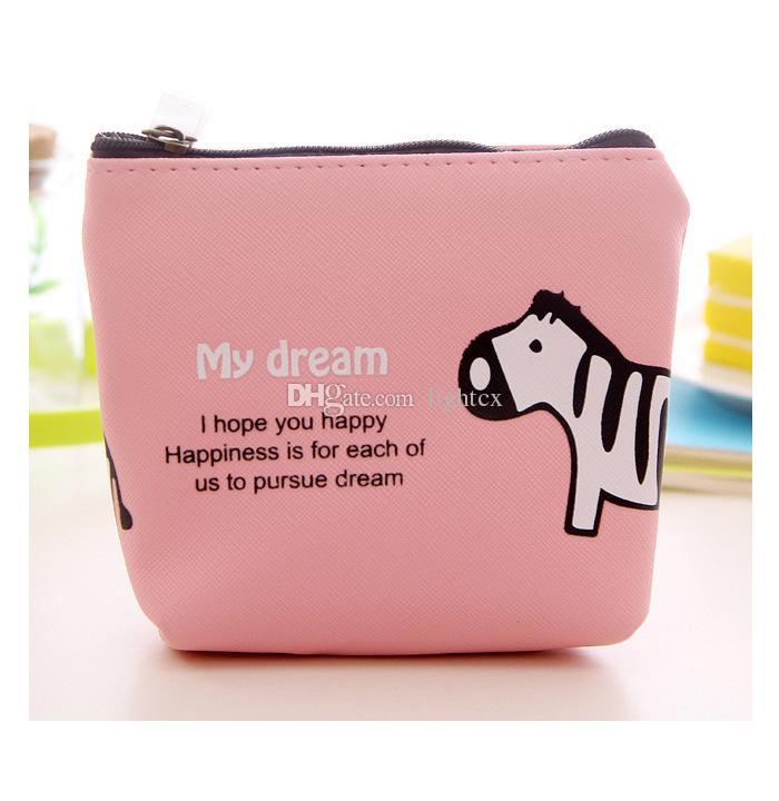 Animais bonitos da forma pequena menina de nylon Dos Desenhos Animados Cavalo Elefante coin purses mini bolsa coin coin bolsa bolsa chave carteira mulheres moeda sacos