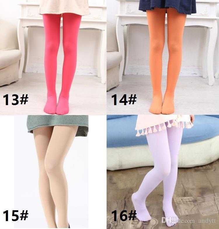 New Girls Velvet leggings Pantyhose Dance Stockings Children Ballet Tights baby Velvet Candy Color Leggings Children Stocking GC07