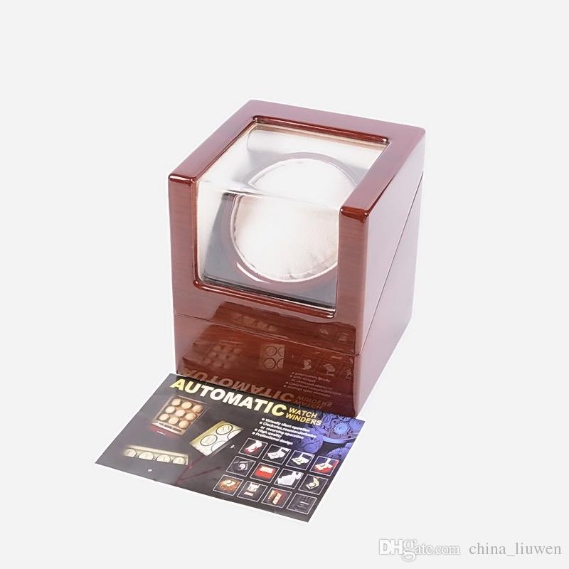 Wooden luxury mini Single watch winder muliple layers of high-goss piano lacquer finish Support power supply and battery design