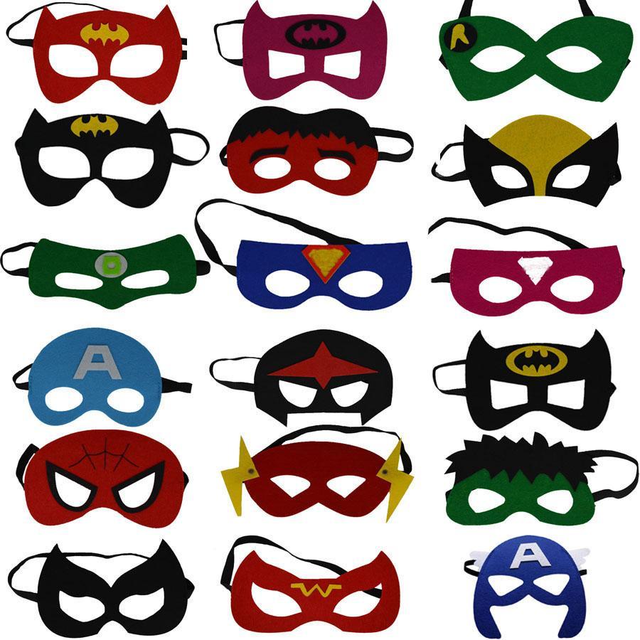 Kids Superhero Mask Cosplay Halloween Mask Halloween Half ...