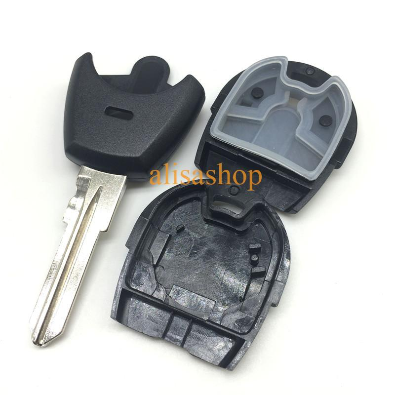 2 buttons replacement remote car key case shell fob for fiat positron EX300 with GT15 blade with logo