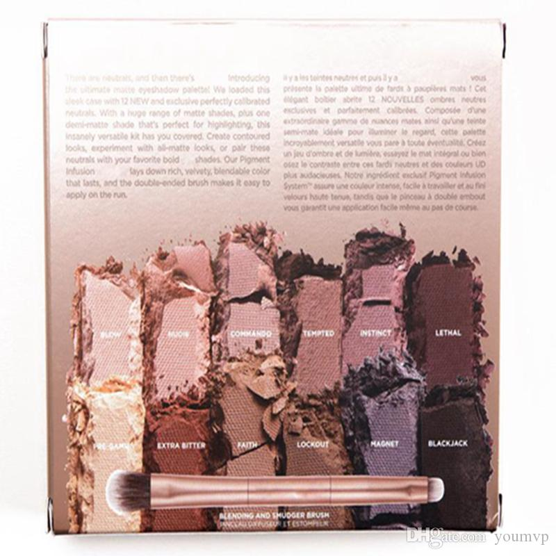 ULTIMATE BASICS Lidschatten matte Farben Matte Eye Shadow Palette 12 SHADES + MIRROR + BRUSH Kit DHL Free