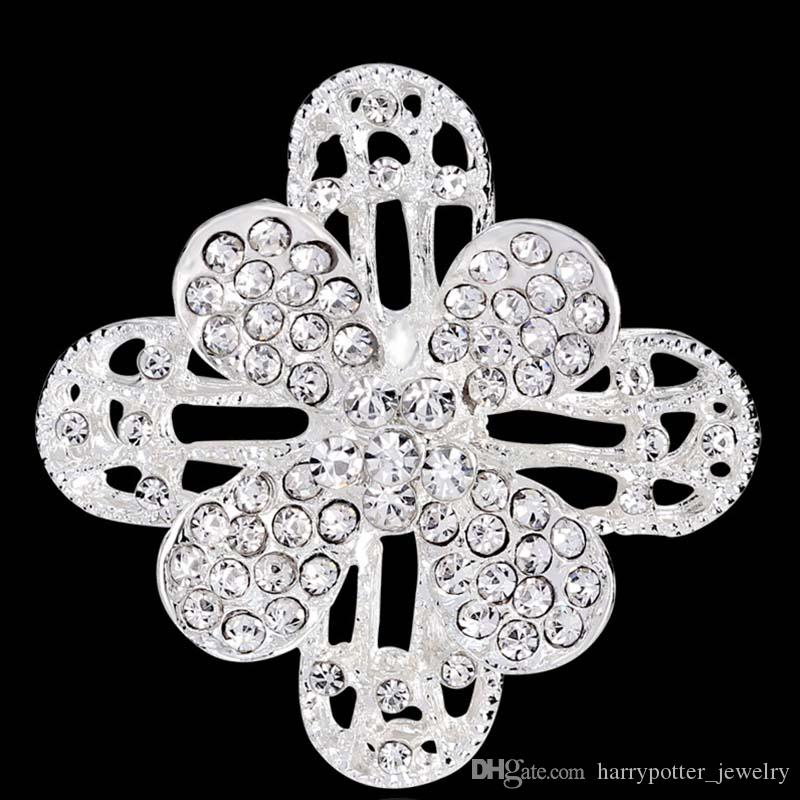 Crystal Rhinestones Brooches for Wedding Invitation Cake Decoration Brooch Pins Bouquet Kit pearl pins badge fashion jewelry 170733