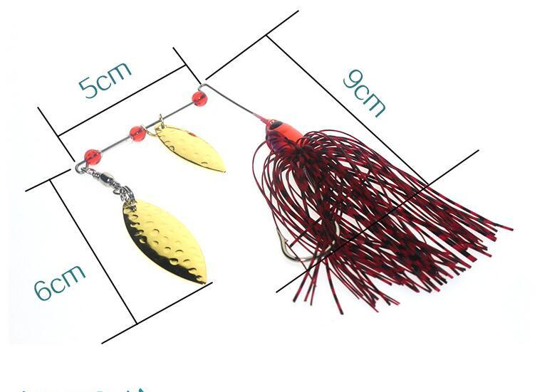 2017 New Artificial Metal Spinnerbaits of Fishing Tackle 9cm 17g Beard Guy Fishing Lure and Jig Heads Hooks for Saltwater