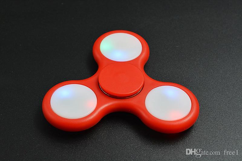 LED Light Mano Spinner Fidget Plastica EDC Mano Spinner autismo e ADHD Sollievo Focus Ansia Giocattoli di stress Regalo i