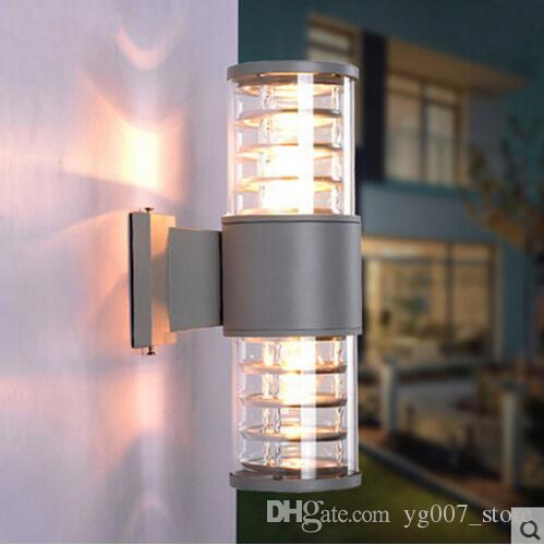 10W Up Down Outdoor Led Wall Light Cylinder Porch Lamp Exterior Light  Luminaria Side Aluminum Waterproof Garden Light 110V 240V Outdoor Wall Light  Lampe Led ...