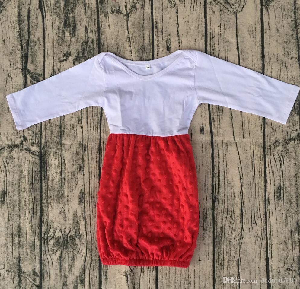 Baby Sleeping Comfortable Wear Gown Girls Kids Cotton Ruffle Design ...