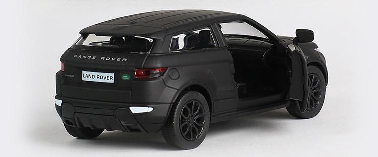 1:36 Escala Diecast Aleación de Metal Modelo de Coche Para la Colección Range Rover Evoque Modelo con licencia Pull Back Toys Car - Matte Black