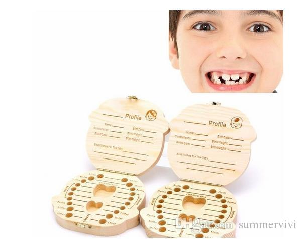 Baby Leche Toothes Meews Shails Collection Caja Memorial Caja linda Hermosa Madera Kua KuA KIVER Cómoda Vida Cajas de Dientes T4057