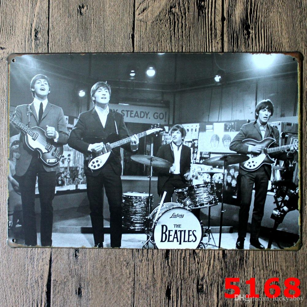 ABBEY ROAD THE BEATLES Poster Wall Decor Bar Home Vintage Craft Gift Art 12x8in Iron painting Tin Poster 30X20CM billboardMixed designs