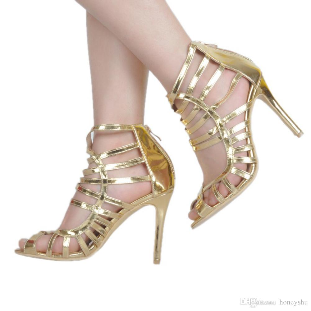 Kolnoo Handmade Womens Fashion Shoes High Heel Peep Toe Cut-out Party Dress Ankle Strap Summer Sexy Sandals XD393-1