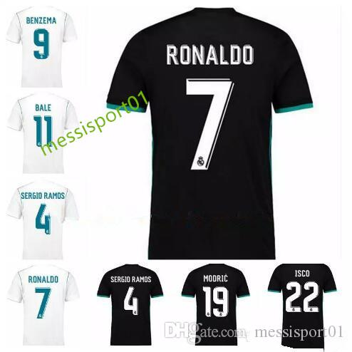d85471dbedd ... top quality 2017 2018 new real madrid soccer jersey 17 18 ronaldo home  white away black
