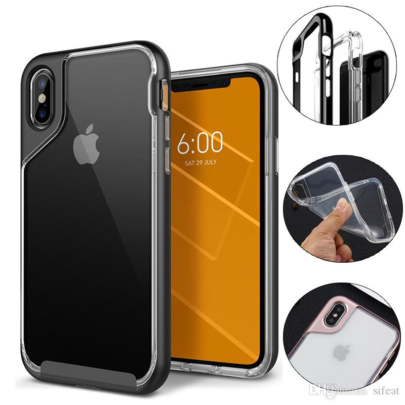 custodia rigida trasparente iphone x