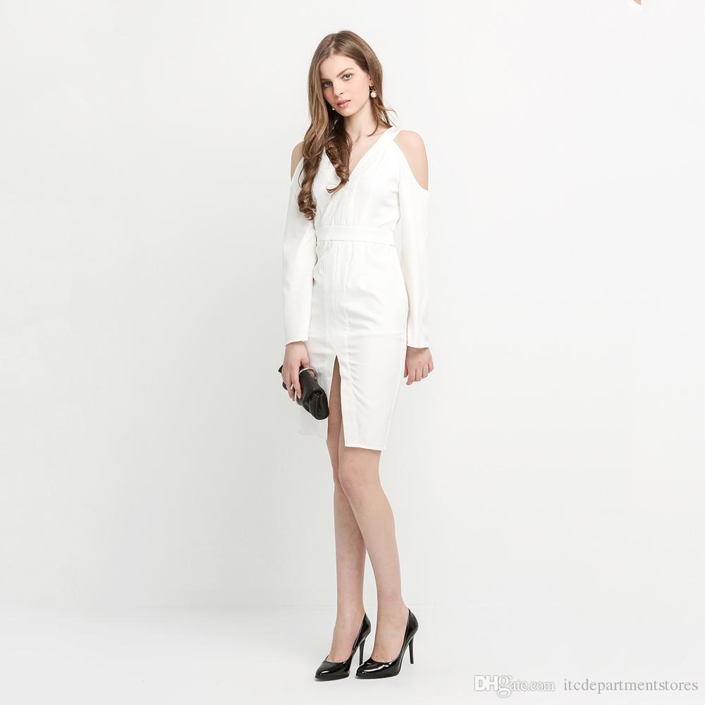 White Backless Midi Dress