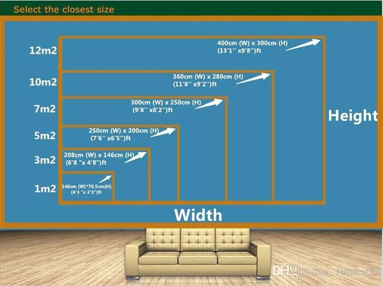 room 3D carta da parati murales High-end personalizzato adesivo non tessuto parete 3 d verde foresta natura pittura Archivio murales 3D carta da parati