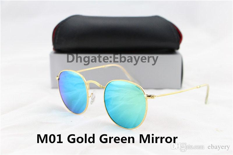 e5ddce59e09 Bigger discount for bigger order. Welcome to wholesale and retail. High  Quality Fashion Round Sunglasses Designer Brand Sun Glasses Gold Metal  Green Flash ...
