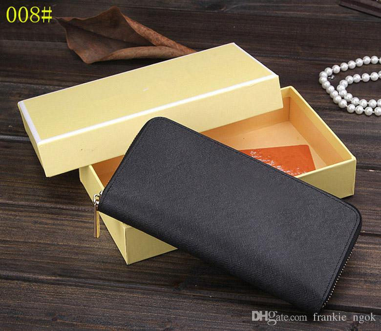 High Qaulity Notecase Women's Fashion Purses Real Leather Zippers Wallets Cross Pattern Brand Designer Gold Letters Handbags Cards Holders