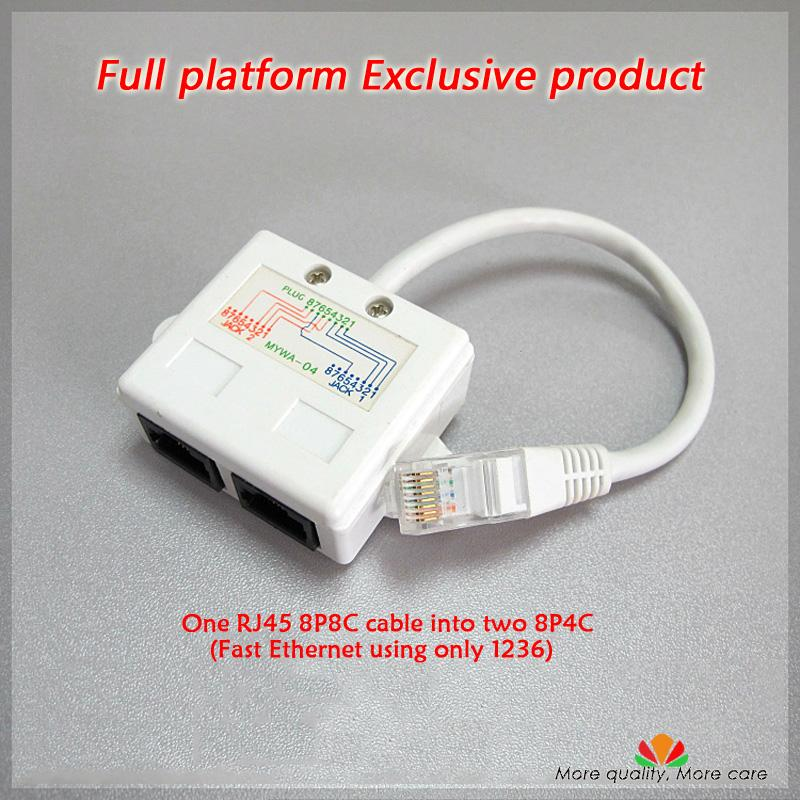 Wholesale Ethernet Extension Cable Network Splitter Rj45 Connector 1 ...