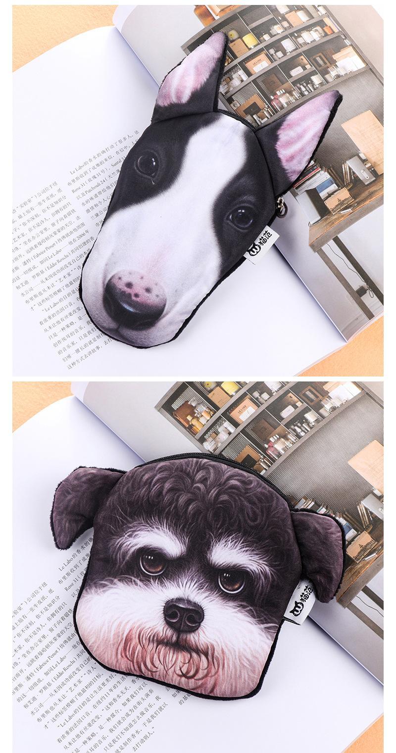 패션 어린이 동물 동전 지갑 홀더 동전을위한 3D 강아지 지갑 여성 코인 가방 어린이 지퍼 귀여운 작은 지갑 홀더 여자 지갑