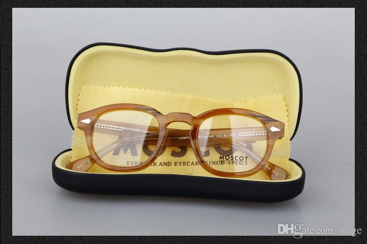 54361cee4247 MOSCOT LEMTOSH BLONDE EYEGLASSES CLEAR LENSES Fashion Sunglasses Unisex  brand new with case