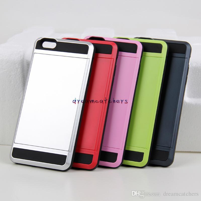 Samsung S8 TPU PC Için yeni İnce Hibrid Kredi Kartı Cep Cüzdan Kılıfı Telefon Kılıfı Koruyucu Kapak Için Samsung S8 Için iphone 7 6 S artı S7
