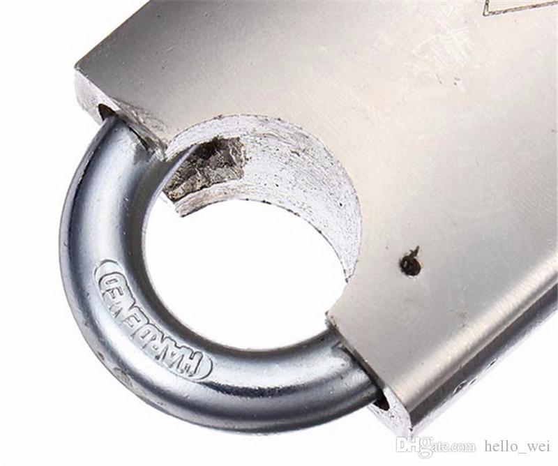 40mm 4 clés Heavy Duty Haute sécurité solide Serrure Porte Boîte De Sécurité Porte En Acier Inoxydable Cadenas Ton Or