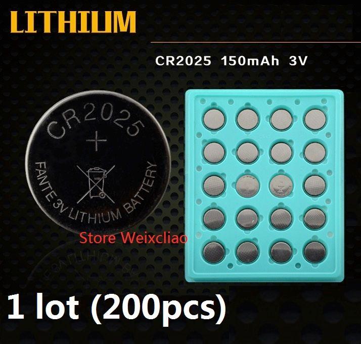 1 CR2025 3V 리튬 이온 배터리 셀 배터리 CR 2025 3 리튬 이온 배터리 트레이 패키지 무료 배송