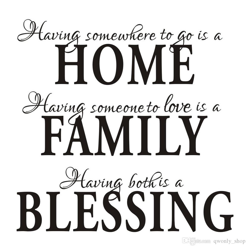 S5Q Home Family Blessing Wall Quote Sticker Decal Removable Vinyl Art Mural Home Decor Decals Letter Decorative AAADCZ