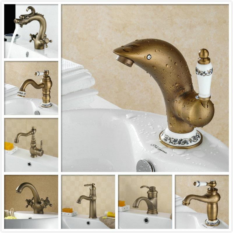 Online Cheap Bathroom Vintage Bathroom Faucet Single Handle Deck ...