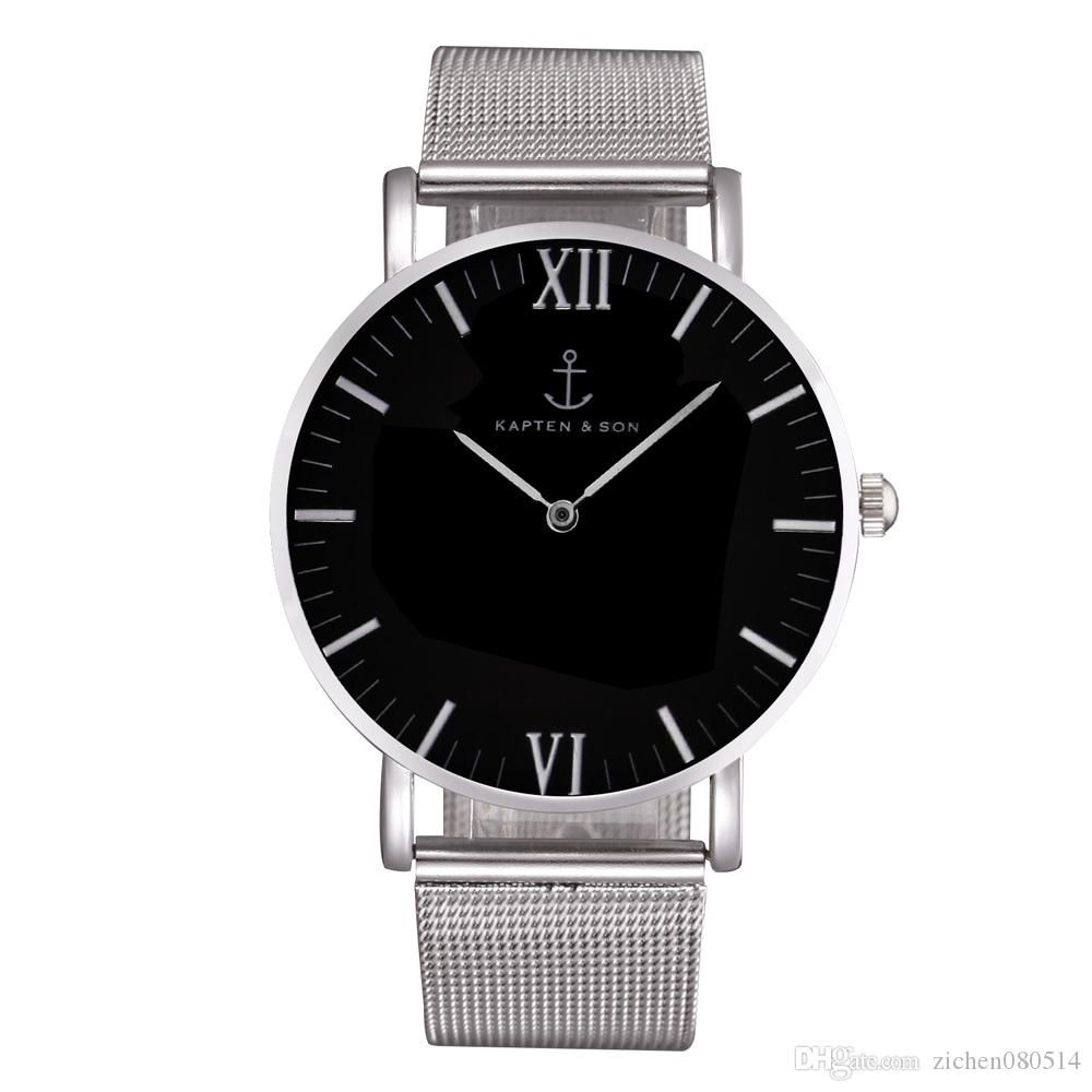 fashion kapten son brand women men unisex steel metal band quartz wrist watch watches for sale. Black Bedroom Furniture Sets. Home Design Ideas