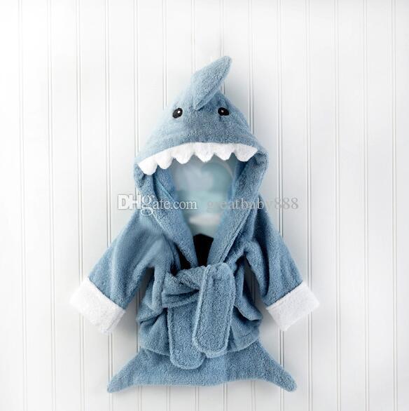 Yeni 15 stilleri sevimli hayvan bornoz Flanel Çocuk köpekbalığı tilki fare baykuş modeli Elbiseler karikatür Gecelik Çocuk Havlu Kapşonlu bornoz C1710