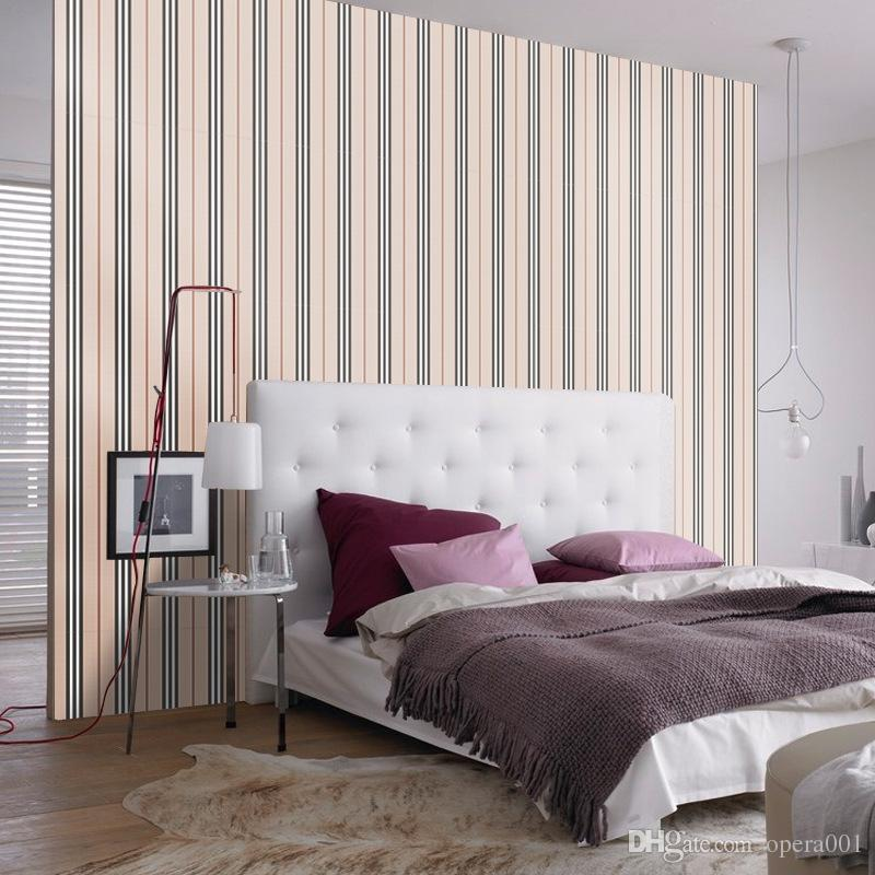 100x 45cm Brown Stripe Wall Sticker Good Quality Paster For Diy Kidu0027S Room  Bedroom Living Room Entryway Dining Room Wallpaper Classroom Deco Kids Room  Wall ...