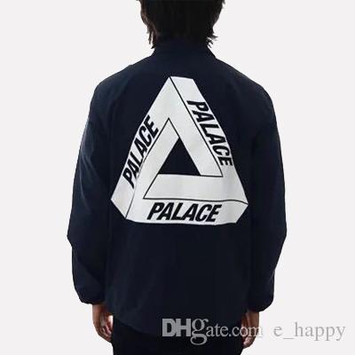 2017 Palace Coaches Jacket Coat High Quality Men Black Windbreaker ...