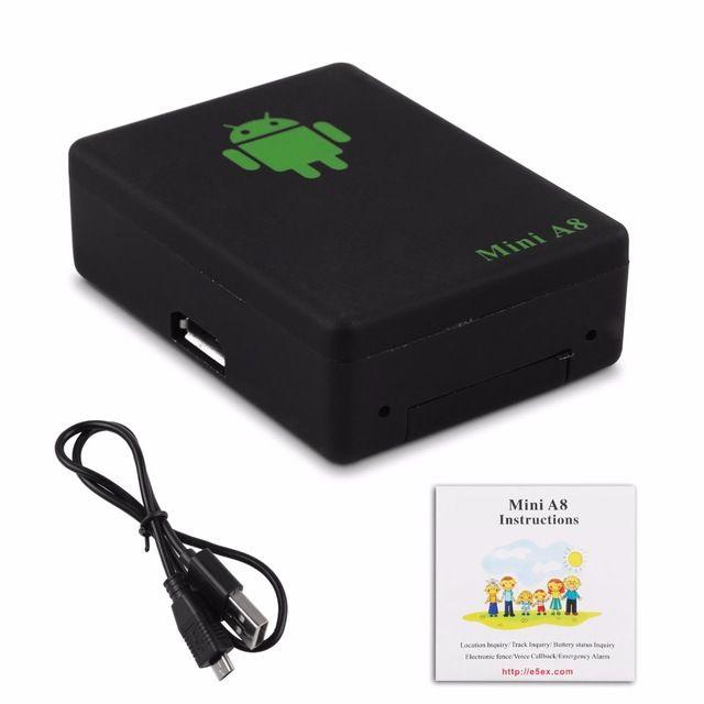 A8 Tracker Car Kit Pet GSM / GPRS / GPS Tracking Power Adapter Locator Dispositivo di tracciamento del tempo globale con pulsante SOS qualsiasi auto