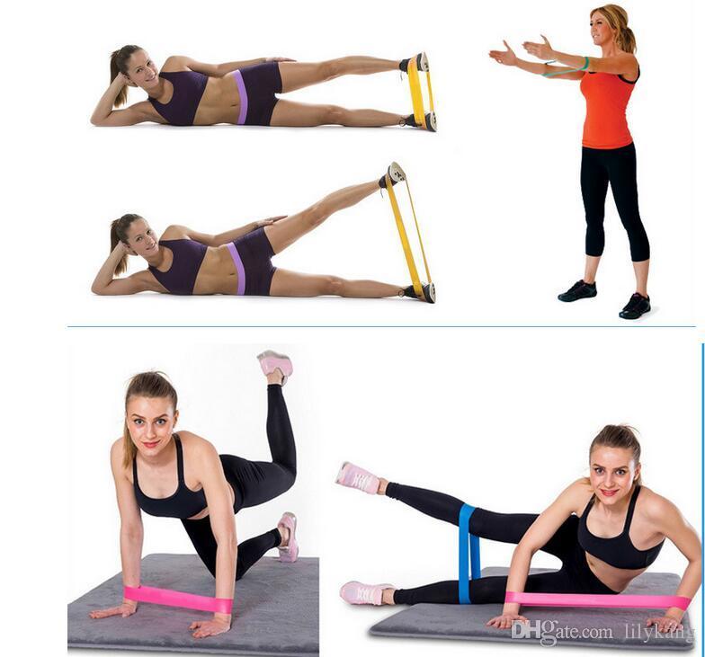 Latex exercice de yoga bandes de résistance Équipement de conditionnement physique extensible formation jambe yoga bandes CrossFit pilates élastique de gymnastique de bande Bande de résistance