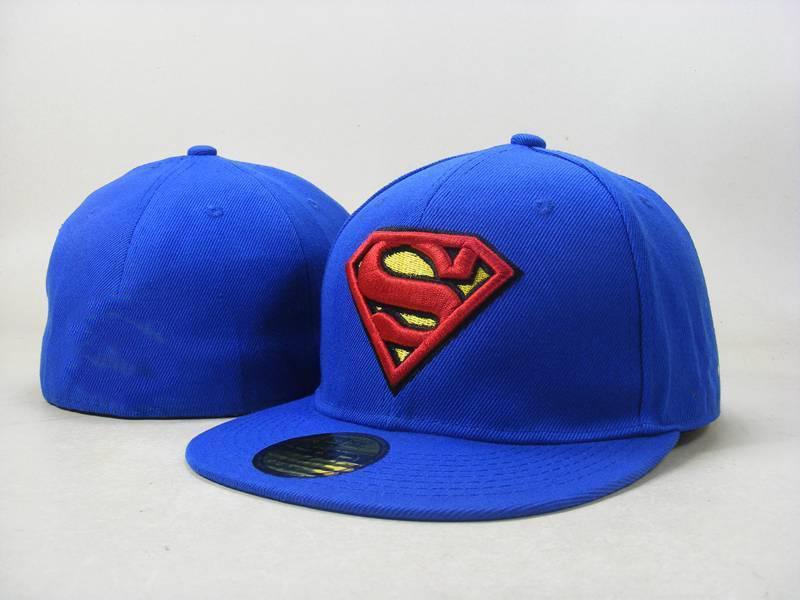 6819ffe4 Fashion Superman Fitted Hats Gorras Flat Brim Hats Cartoon Masculino ...