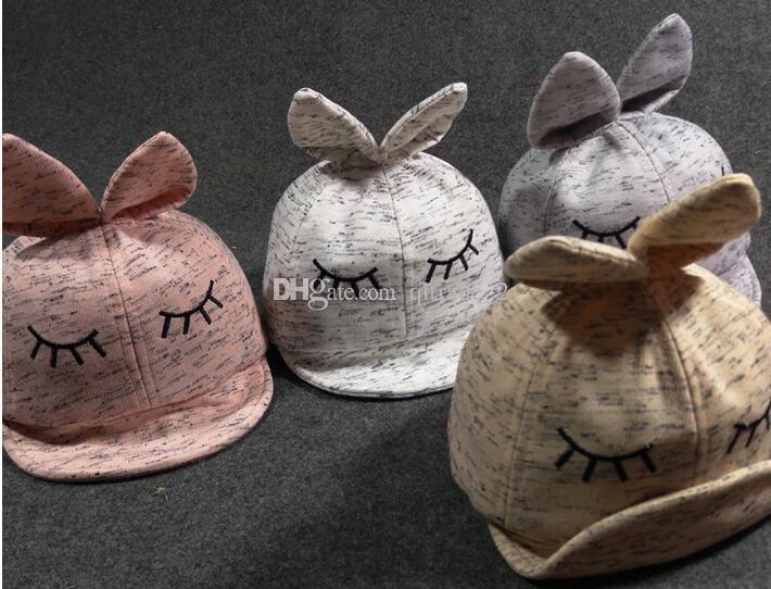 Nuova palla Cappucci in cotone morbido Squint morbido tappo orecchio cappello cappello cappello bambino occhi chiuso berretto da baseball