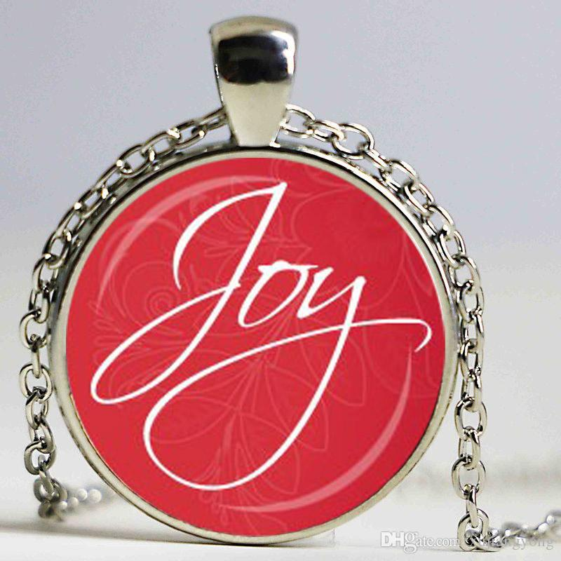 Wholesale christmas joy pendant red and white joy necklace holiday wholesale christmas joy pendant red and white joy necklace holiday jewelry inspirational spiritual message gift for her diamond necklace necklaces for women aloadofball Gallery