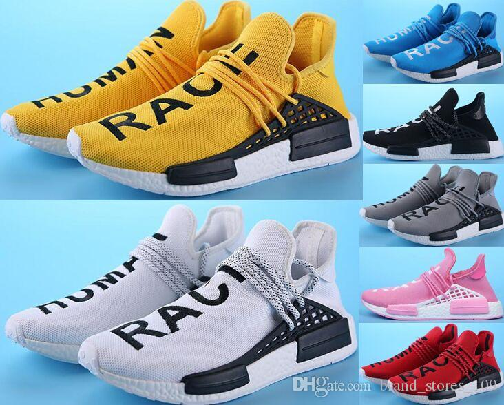 c00ad32463e2c Hot Sale Human Race Factory Real Yellow Red Green Black Orange Sports Shoes  Mens Pharrell Williams X Human Race Running Shoes Sneakers Hoka Running  Shoes ...