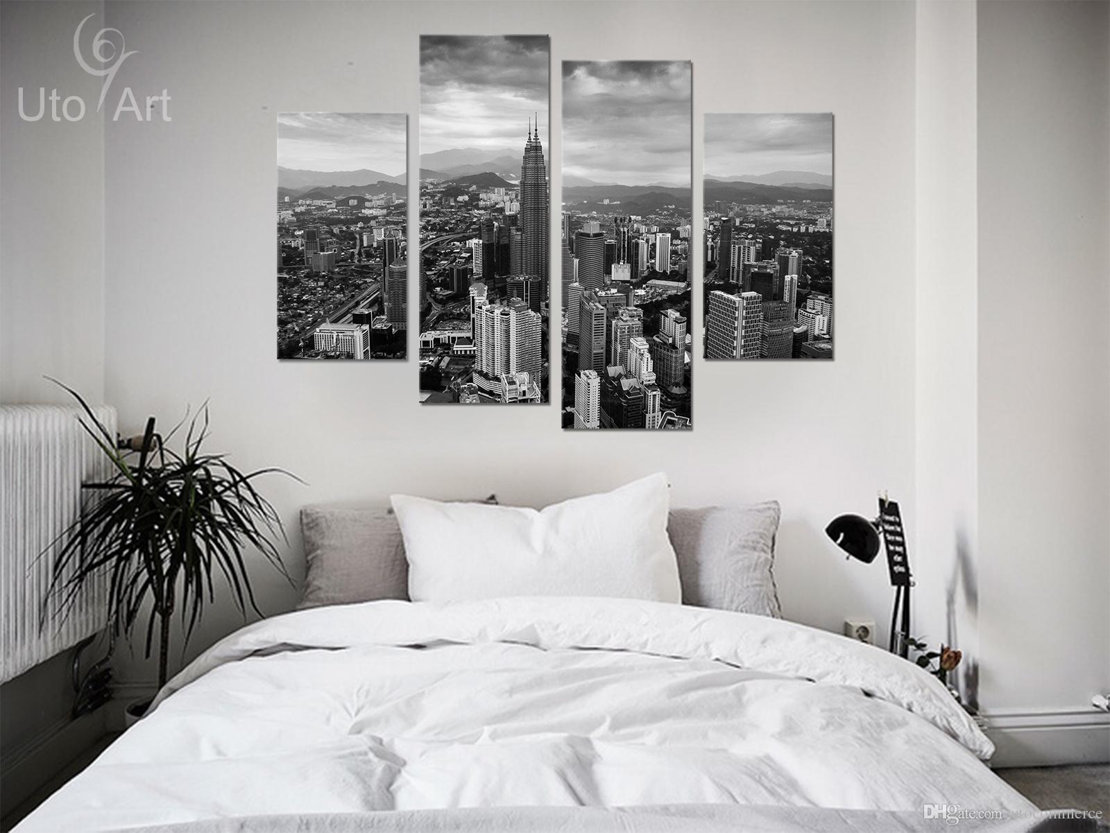 Wall Decor Painting Modern City Gray Landscape Art Print Home Decorative Digital Picture Canvas Printing For Living Room