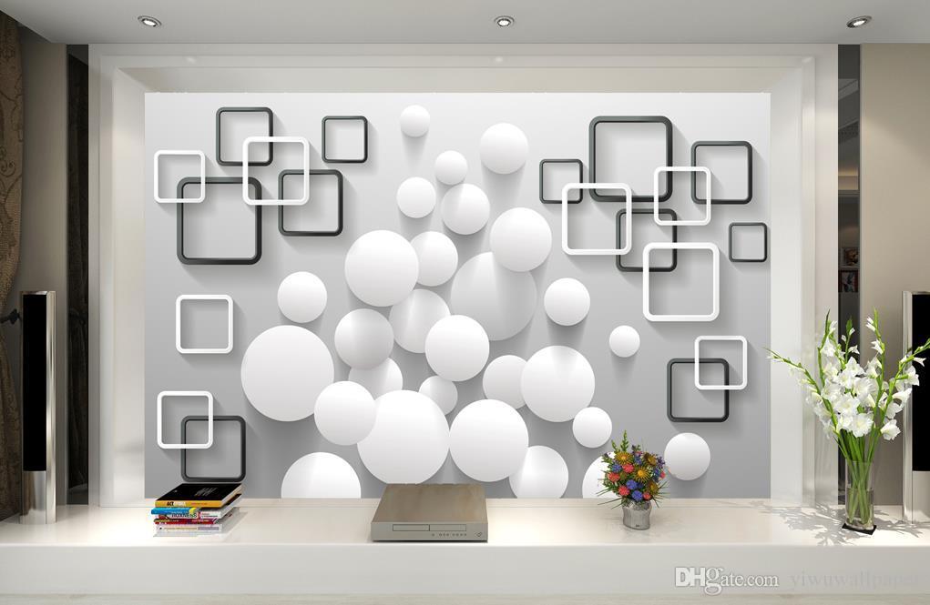 Gewohnheit jede mögliche Größe Modernes unbedeutendes Ballbox Hintergrund Tapete 3D Wallpaper 3D-Tapeten für tv Hintergrund