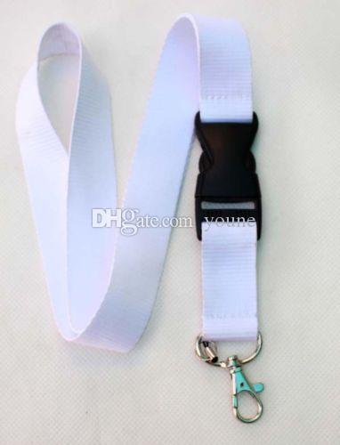 Neues Design ! geben Verschiffen-populäre verkaufte weiße reine Farbe klassische Lanyard-Umhängeband Lanyard GROSSVERKAUF frei