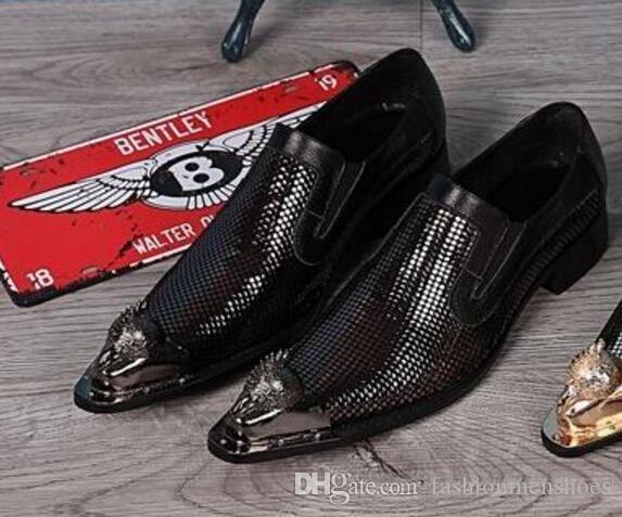 골드 특허 가죽 발가락 드레스 신발 남자 가죽 신발 망 실버 플랫 웨딩 신발 슬리퍼 남자 플랫