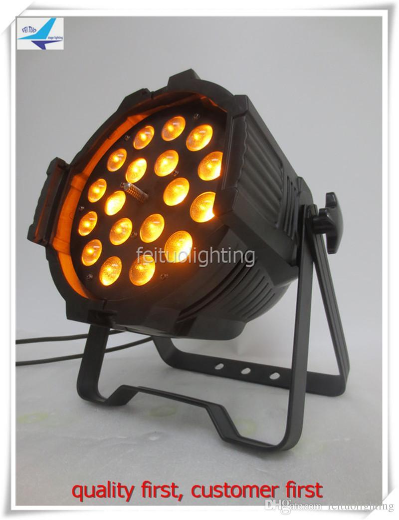 Par luce interna a 4 led par 7/12 ch zoom 5-60 RGBWA par luce led UV 18x18w 6in1 zoom indoor led par par luce