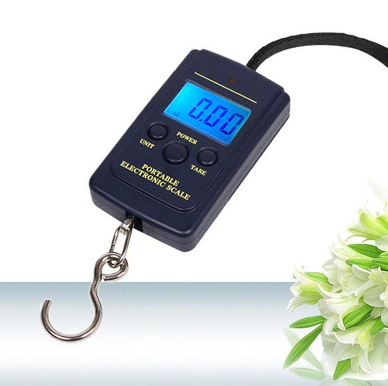Digitale Waage Gewichtung Steelyard Hängende Hakenwaage Gepäck Gewicht Waage Steelyard Schwarz LCD Mini Taschenwaage Elektronische Waage