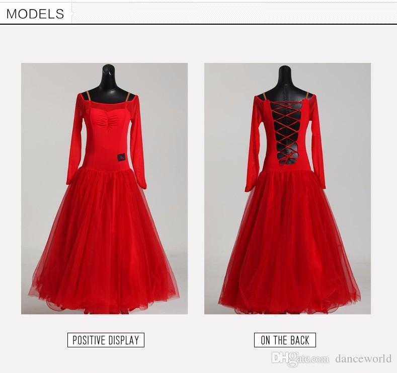 vestido de baile vestido para baile de salón vals baile moderno traje baile de salón vestido de competición vestido de ballet rojo flamenco