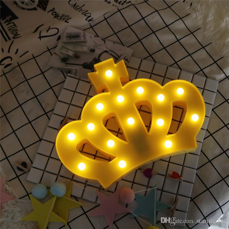 Couronne Chambre 3d Noël Led Murale Veilleuse Lampe Enfants Princesse Partie Mariage Créative 2aaBatterie De 5SAjc4RL3q
