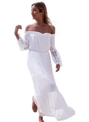 new concept ea5be 9c2c4 Abiti da sposa di marca a buon mercato abiti da sposa di lusso opaco da  sposa bianco vestito da cerimonia nuziale del vestito da chiffon lungo  delle ...