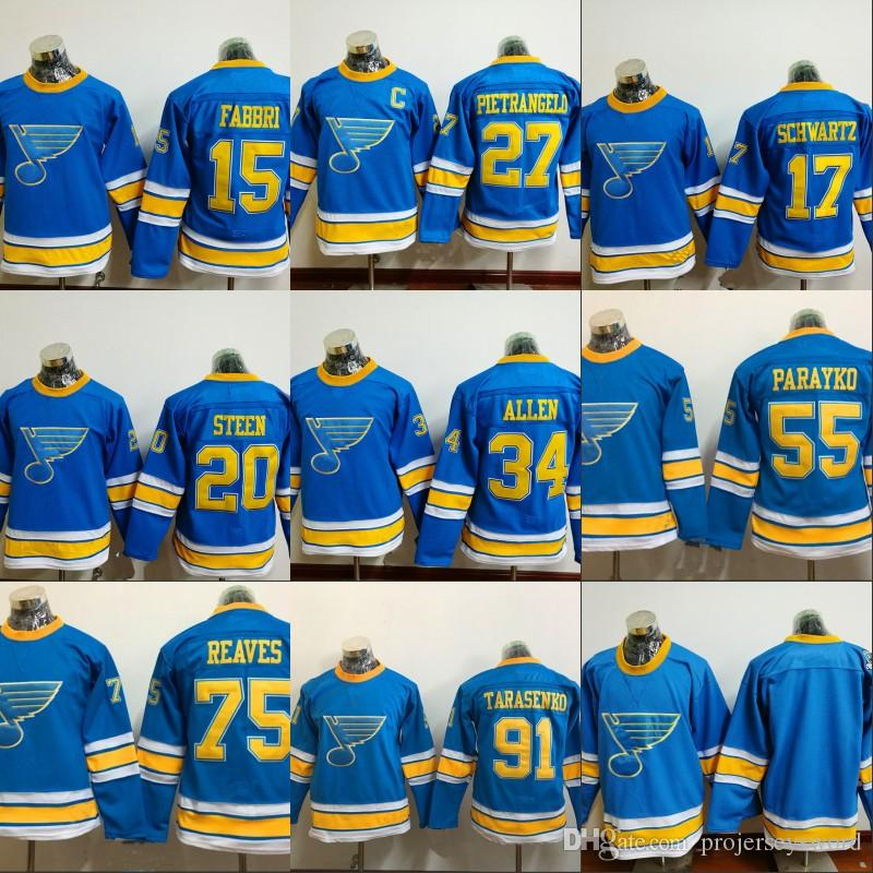 the latest 9e68f fba59 Youth Kids 2017 Winter Classic Premier Jersey St. Louis Blues 64 Nail  Yakupov 17 Jaden Schwartz 100% Stitched Hockey Jerseys Any Name